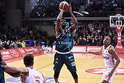 Hayes Kevarrius<br /> Grissin Bon Reggio Emilia - Acqua S.Bernardo Cantu<br /> Lega Basket Serie A 2019/2020<br /> Reggio Emilia, 25/01/2020<br /> Foto A.Giberti / Ciamillo - Castoria