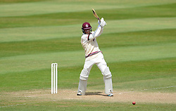 Somerset's Tom Abell drives the ball- Photo mandatory by-line: Harry Trump/JMP - Mobile: 07966 386802 - 16/06/15 - SPORT - CRICKET - LVCC County Championship - Division One - Day Three - Somerset v Nottinghamshire - The County Ground, Taunton, England.