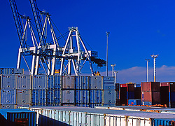 Containers on Dock for Shipping