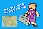 Flat Julia Goes to Washington State!
