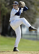 Pine Bush pitcher Ryan Dichiara winds up during a game against Cornwall in Pine Bush on Monday, April 13, 2009.