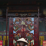 Outside a temple in Hoi An, Vietnam, a few kilometers from the Nam Hai resort.