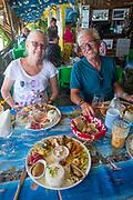 Maui's Beach Restaurant, Teahupoo, Tahiti Iti, Tahiti,French Polynesia, South Pacific