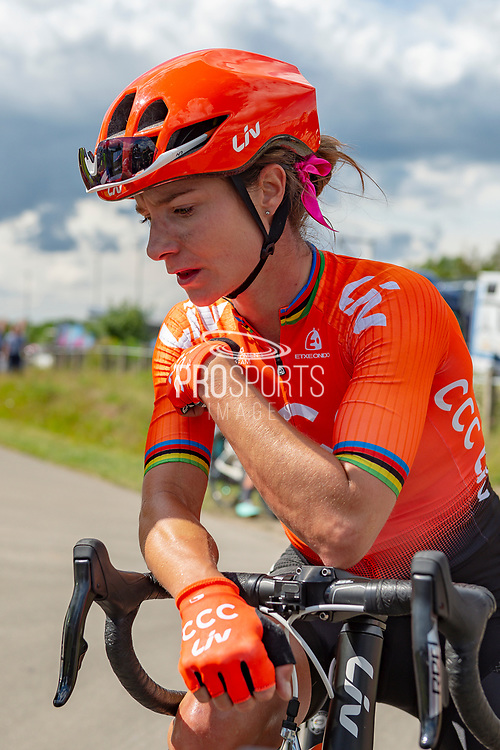 Marianne Vos (NED) riding for CCC-Liv after winning Stage 2 of the OVO Energy Women's Tour 2019 at Cyclopark, Gravesend, United Kingdom on 11 June 2019.