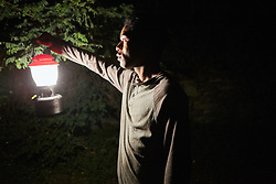 RELEASE DATE: June 9, 2017 TITLE:  It Comes At Night STUDIO: A24 DIRECTOR: Trey Edward Shults PLOT: Secure within a desolate home as an unnatural threat terrorizes the world, a man has established a tenuous domestic order with his wife and son. Then a desperate young family arrives seeking refuge. STARRING: KELVIN HARRISON JR. as Travis. (Credit Image: © A24/Entertainment Pictures/ZUMAPRESS.com)