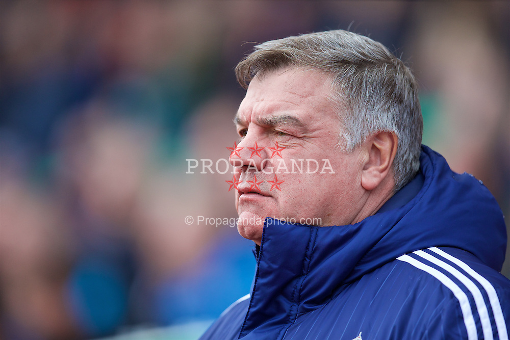 STOKE-ON-TRENT, ENGLAND - Saturday, April 30, 2016: Sunderland's manager Sam Allardyce during the FA Premier League match against Stoke City at the Britannia Stadium. (Pic by David Rawcliffe/Propaganda)