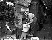 1952 - P. O'Sullivan, wife and child, Clondalkin, Dublin.