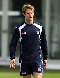 Middlesex's Nick Compton warms up ahead of Day Three of the County Championship match with Durham - Photo mandatory by-line: Robbie Stephenson/JMP - Mobile: 07966 386802 - 04/05/2015 - SPORT - Football - London - Lords  - Middlesex CCC v Durham CCC - County Championship Division One