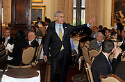 Photo By Michael R. Schmidt-October 4, 2012.Chicago mayor Rahm Emanuel exits the room after giving his keynote speech during the Federal Bar Association Chicago Chapter's Annual Installation Luncheon Thursday afternoon at the Union League Club of Chicago.