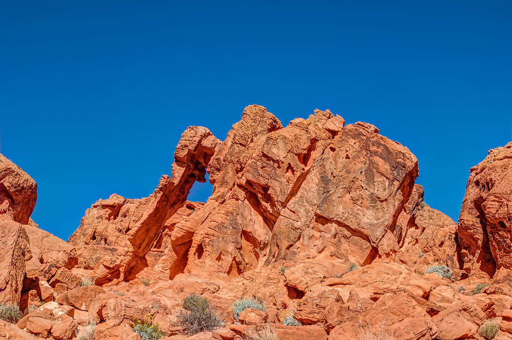 The American Southwest is well-known for its incredible rock formations that come in ever size, shape and color. Elephant Rock is one of these rock formations that is found in Nevada's oldest state park - Valley of Fire State Park.