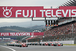 SHIZUOKA, JAPAN - Sunday, October 12, 2008: Lewis Hamilton (GBR, Vodafone McLaren Mercedes) at the start during the Japanese Formula One Grand Prix at the Fuji Speedway. (Photo by Michael Kunkel/Hochzwei/Propaganda)