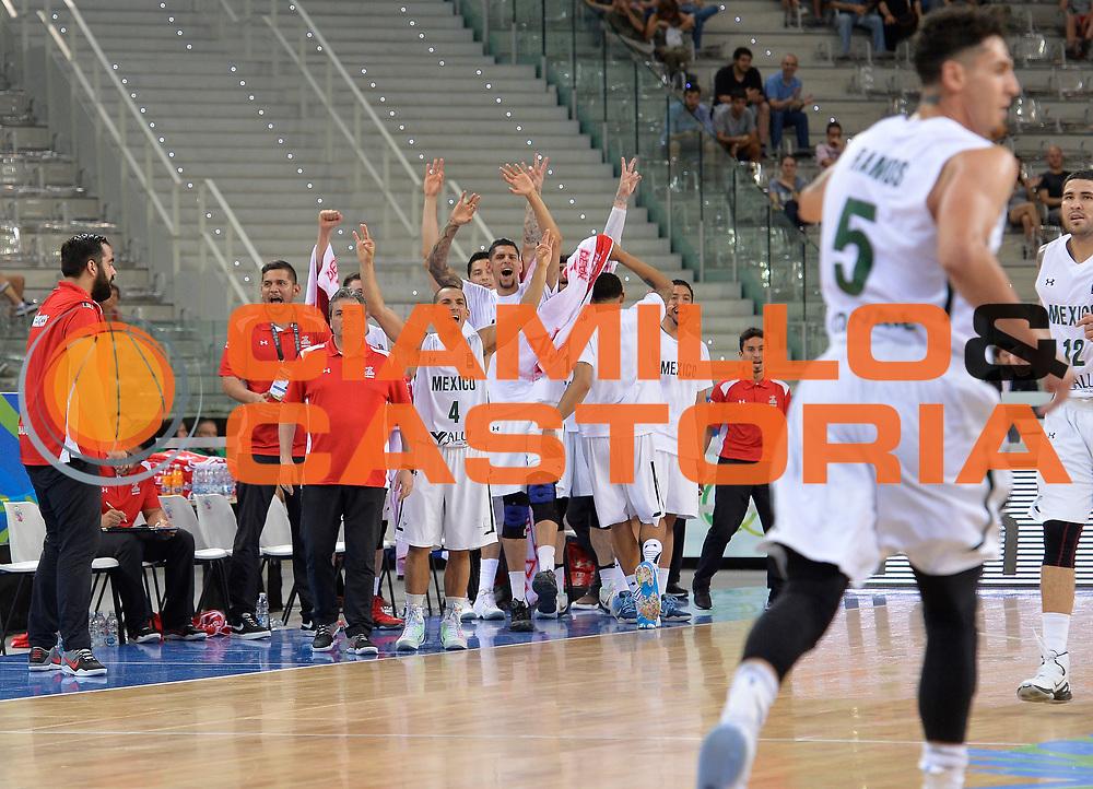 DESCRIZIONE: Torino FIBA Olympic Qualifying Tournament Messico Grecia<br /> GIOCATORE: MEXICO MESSICO<br /> CATEGORIA: Esultanza<br /> GARA: FIBA Olympic Qualifying Tournament Messico Grecia<br /> DATA: 06/07/2016<br /> AUTORE: Agenzia Ciamillo-Castoria