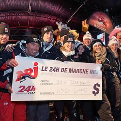 Marche Energie 24h de Tremblant 2011. L'arrivée au pied des pentes. Un total de 106,648 dollars en dons.