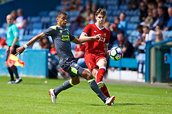 NUNEATON, ENGLAND - Sunday, July 30, 2017: Liverpool's Sam Hart and PSV Eindhoven's Cody Gakpo during a pre-season friendly between Liverpool and PSV Eindhoven at the Liberty Way Stadium. (Pic by Paul Greenwood/Propaganda)