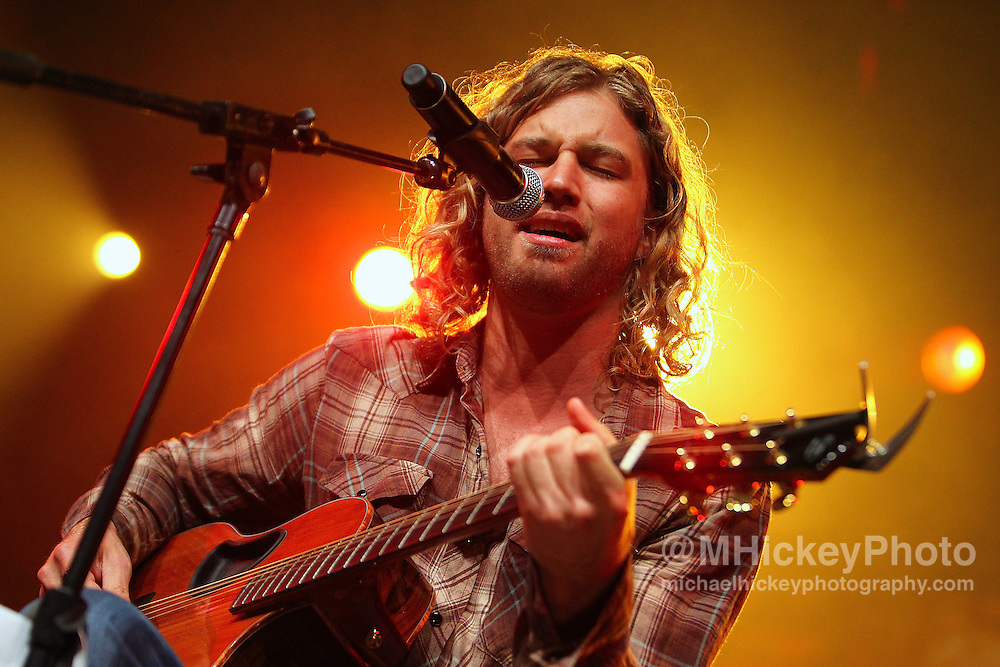 Casey James performs at the Best Buy Country Music Expo at the Indiana State Fairgrounds in Indianapolis, Indiana.