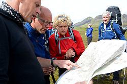 08-07-2014 ISL: Iceland Diabetes Challenge dag 4, Alftavatn<br /> Vandaag ging de challenge van Hrafntinnusker naar Alftavatn / Edwin Zanen, Wim in 't Veld, Sandra Ciere-Koolhaas
