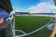 Prenton Park, home of Tranmere Rovers during the EFL Sky Bet League 2 play off first leg match between Tranmere Rovers and Forest Green Rovers at Prenton Park, Birkenhead, England on 10 May 2019.