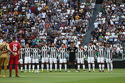 August 19, 2017 - Turin, Italy - Juventus Team before  the Serie A football match n.1 JUVENTUS - CAGLIARI on 19/08/2017 at the Allianz Stadium in Turin, Italy. (Credit Image: © Matteo Bottanelli/NurPhoto via ZUMA Press)