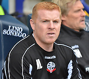 Neil lennon during the Sky Bet Championship match between Bolton Wanderers and Wolverhampton Wanderers at the Macron Stadium, Bolton, England on 12 September 2015. Photo by Mark Pollitt.