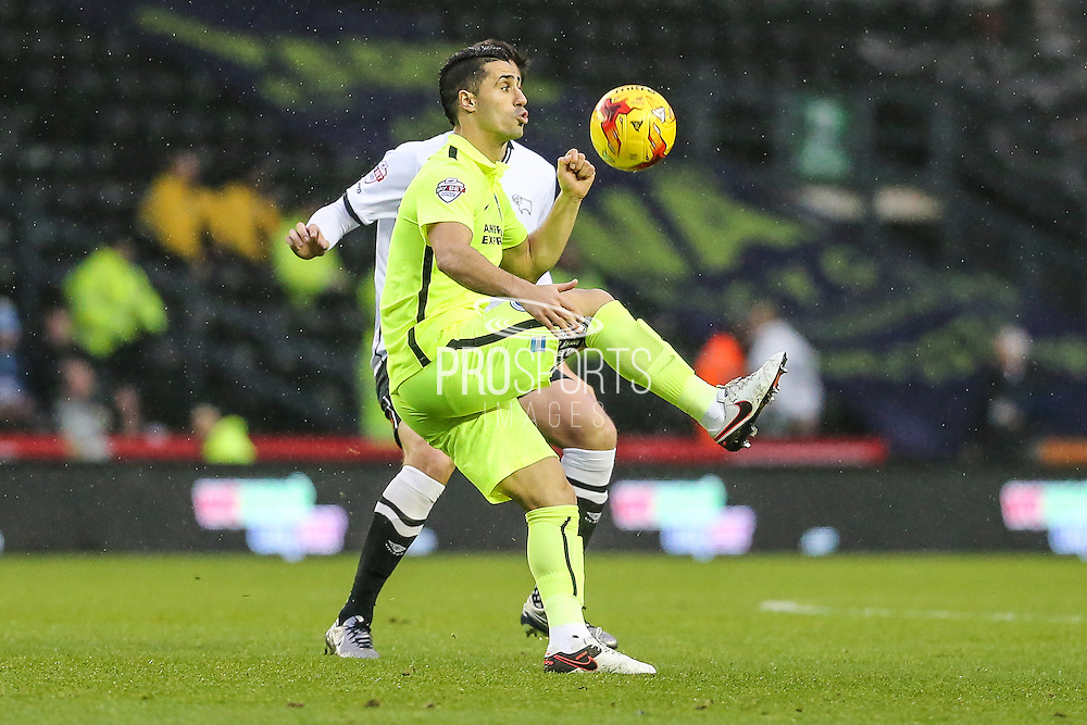 Brighton's Biram Kayal on the ball during the Sky Bet Championship match between Derby County and Brighton and Hove Albion at the iPro Stadium, Derby, England on 12 December 2015. Photo by Shane Healey.