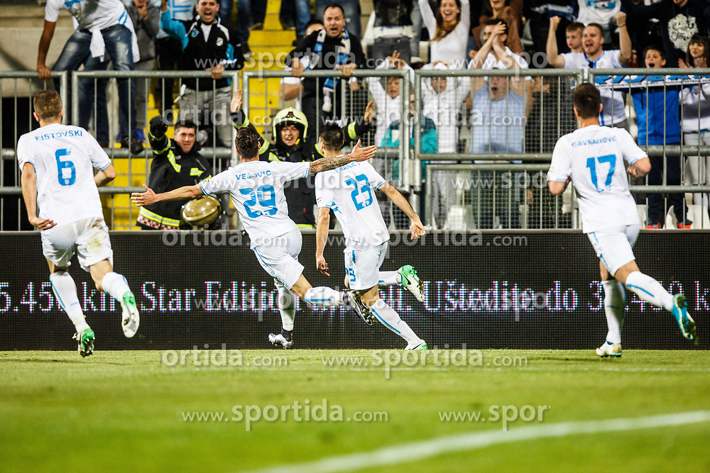 Franko Andrijasevic #23 of HNK Rijeka and Marko Vesovic #29 of HNK Rijeka during football match between HNK Rijeka and GNK Dinamo Zagreb in Round #27 of 1st HNL League 2016/17, on November 5, 2016 in Rujevica stadium, Rijeka, Croatia. Photo by Grega Valancic / Sportida