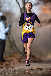 Brampton, Ontario ---2012-11-03--- Charlotte Prouse of London Central S.S. competes in the junior girls race at the 2012 OFSAA cross country championships at Heart Lake Conservation area in Brampton, Ontario, November 3, 2012. .GEOFF ROBINS Mundo Sport Images
