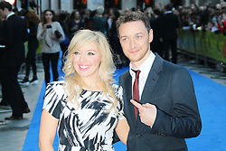 © Licensed to London News Pictures. 30/09/2013, UK.  Joy McAvoy; James McAvoy, Filth - London film premiere, Odeon West End cinema Leicester Square, London UK, 30 September 2013. Photo credit : Richard Goldschmidt/Piqtured/LNP