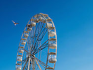 Big Wheel against Blue Sky, Portsmouth, Hampshire, Britain - Oct 2016