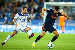 Javi Jimenez of Valencia takes on Adrien Silva of Leicester City - Mandatory by-line: Robbie Stephenson/JMP - 01/08/2018 - FOOTBALL - King Power Stadium - Leicester, England - Leicester City v Valencia - Pre-season friendly