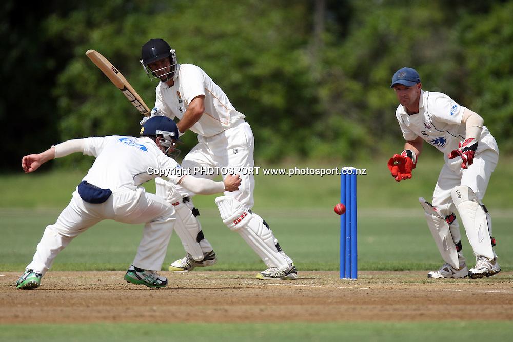Grant Elliot batting, Plunket Shield, 4 day domestic cricket. Auckland v Wellington, Colin Maiden Park, Auckland. 22 March 2011. Photo: William Booth/photosport.co.nz