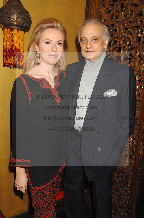 SIRDAR ALY AZIZ and ISABELLA CLEMENTE at a party in honour of Ivana Trump hosted by Mohieb Dahabieh at Pasha, Gloucester Road, London on 25th January 2008.<br /><br />NON EXCLUSIVE - WORLD RIGHTS