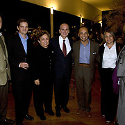 Secretary Donna Shalala, Representatives Luis Gutierrez and Kay Granger, Soraida Gutierrez, and CARE staff, at the farewell reception at Huaca Pucllana, in Lima with US Ambassador to Peru, Peter Michael McKinley.