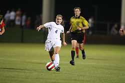 Virginia Cavaliers M Jen Redmond (4)..The Virginia Cavaliers Women's Soccer Team defeated the University of Georgia Bulldogs 2-0 on September 8, 2006 at Klöckner Stadium in Charlottesville, VA...
