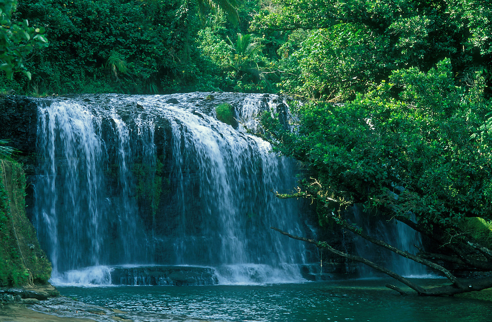 Guam, Micronesia: Talofofo Falls, a popular swimming & picnicking spot.