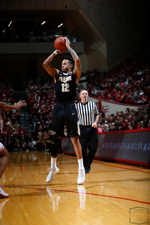 Purdue forward Vince Edwards (12) in action as Purdue played Indiana in an NCCA college basketball game in Bloomington, Ind., Thursday, Feb. 9, 2017. (AJ Mast)