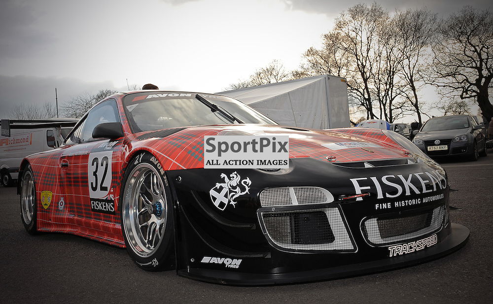Trackspeed, Gregor Fisken & Richard Westbrook, Porsche 997GT3R, GT3 during qualifying and practice at the first round of the Avon Tyres British GT Championship held at Oulton Park, Cheshire, UK, 29th March 2013 WAYNE NEAL | STOCKPIX.EU