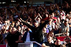 Fans celebrate after Bristol City win 1-2 - Rogan/JMP - 14/09/2019 - Bet365 Stadium - Stoke, England - Stoke City v Bristol City - Sky Bet Championship.