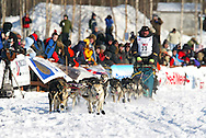 3/4/2007:  Willow, Alaska -  Veteran Tim Osmar of Ninilchik, AK at the start of the 35th Iditarod Sled Dog Race