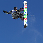 Hiroki Suwa, Japan,  in action during the Men's Half Pipe competition at the Burton New Zealand Open 2011 held at Cardrona Alpine Resort, Wanaka, New Zealand, 9th August 2011. Photo Tim Clayton