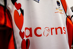 Worcester Warriors Acorns shirt in club shop - Mandatory by-line: Robbie Stephenson/JMP - 15/02/2020 - RUGBY - Sixways Stadium - Worcester, England - Worcester Warriors v Bath Rugby - Gallagher Premiership Rugby