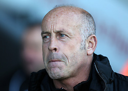 Hereford United Manger, Martin Foyle - Photo mandatory by-line: Matt Bunn/JMP - Tel: Mobile: 07966 386802 10/11/2013 - SPORT - FOOTBALL - Pirelli Stadium - Burton upon Trent - Burton Albion v Hereford United - FA Cup