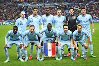 equipe de France<br /> debout - Jallet - Varane - Pogba - Benzema - Lloris - Giroud<br /> Assis - Matuidi - Ribery - Sakho - Valbuena - Clichy