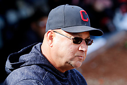March 18, 2018 - Las Vegas, NV, U.S. - LAS VEGAS, NV - MARCH 18: Terry Francona (77), manager of the Indians, watches the action during a game between the Chicago Cubs and Cleveland Indians as part of Big League Weekend on March 18, 2018 at Cashman Field in Las Vegas, Nevada. (Photo by Jeff Speer/Icon Sportswire) (Credit Image: © Jeff Speer/Icon SMI via ZUMA Press)