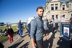 Jamie Dornan at the 18th after his match. Alfred Dunhill Links Championship this afternoon at St Andrews.
