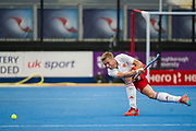 England's Brendan Creed. England v The Netherlands - Semi Final - Hockey World League Semi Final, Lee Valley Hockey and Tennis Centre, London, United Kingdom on 24 June 2017. Photo: Simon Parker