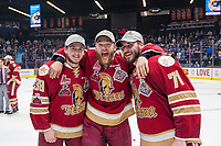 REGINA, SK - MAY 27: The Acadie-Bathurst Titan celebrate  at the Brandt Centre on May 27, 2018 in Regina, Canada. (Photo by Marissa Baecker/CHL Images)