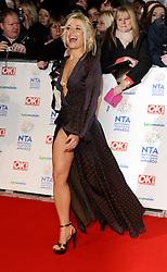 Rachel Wilde arrives at The National Television Awards Ceremony 2014, The O2 Arena, Greenwich,  London, United Kingdom. Wednesday, 22nd January 2014. Picture by i-Images