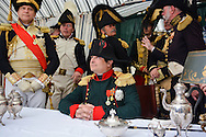 Bivouac french and last quarter of Napoleon of the bicentenary of the Battle of Waterloo. <br /> Waterloo, 20 june 2015, Belgium<br /> Pics: Frank Samson as Napoleon