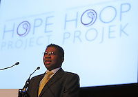 STELLENBOSCH, SOUTH AFRICA- In this file image, Professor Russel Botman, Rector and Vice Chancellor of the University of Stellenbosch, addresses the audience during the launch of the University of Stellenbosch's Hope Project at the Konservatorium on 21 July 2010. Professor Botman died in his sleep on Saturday 28 June 2014.<br /> Photo by Roger Sedres/Image SA