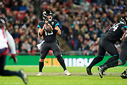 Jacksonville Jaguars Quarterback Gardner Minshew (15) during the International Series match between Jacksonville Jaguars and Houston Texans at Wembley Stadium, London, England on 3 November 2019.